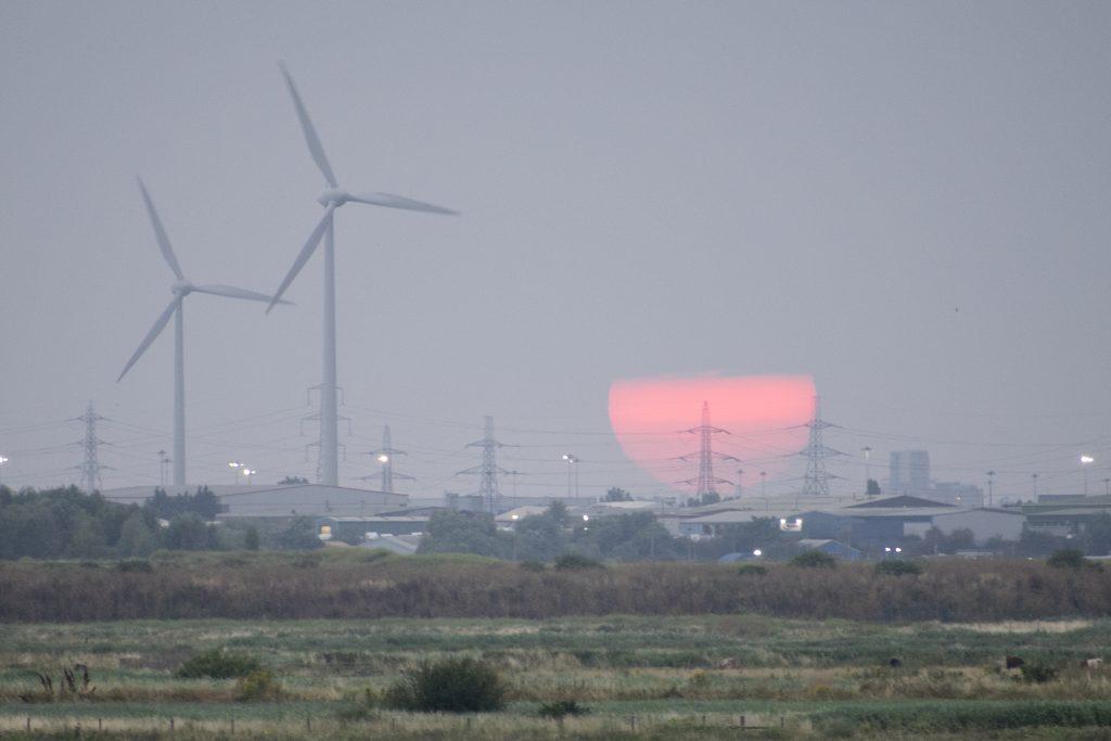 Sunset over Rainham Marshes